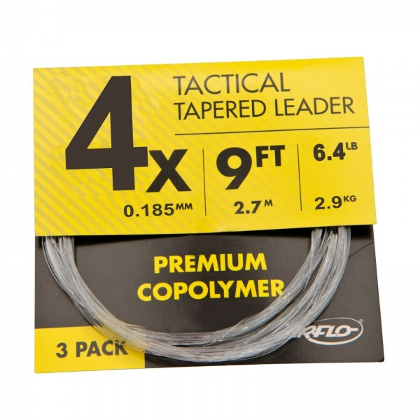 Airflo Tactical Leader 9´ 3-Pack