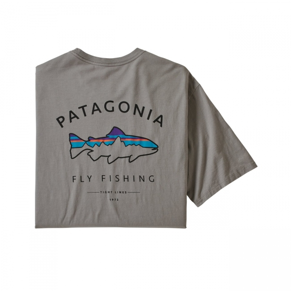 Patagonia Men's Framed Fitz Roy Trout Organic T-Shirt FEA