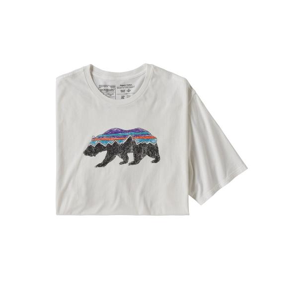 Patagonia Fitz Roy Bear Organic T-Shirt WHI